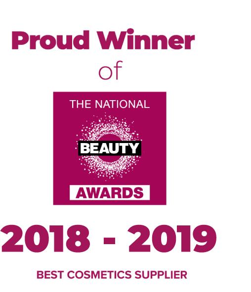 Beauty Award winner for Best Cosmetics Supplier logo