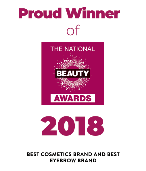 Beauty Award winner for Best Eyebrow Brand and Best Cosmetics Brand logo