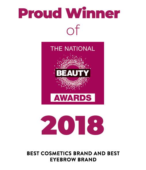 Beauty Award winner for Best Eyebrow Brand and Best Cosmetics Brand logo