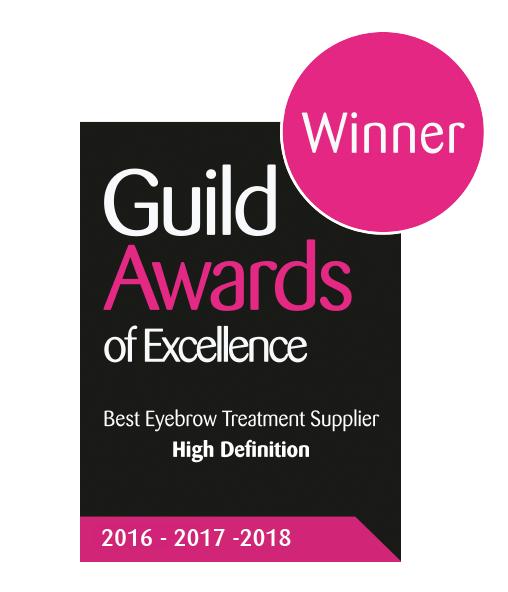 Guild Award for Best Eyebrow treatment provider 3 years running logo