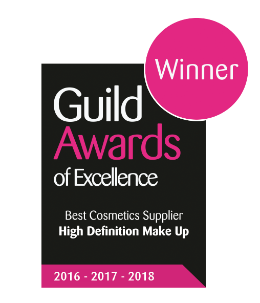 Guild Award for Best Makeup PRovider 3 years running award