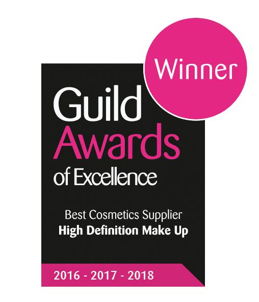 Guild Award for Best Makeup PRovider 3 years running award