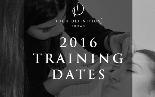 2016 HD Brows training dates