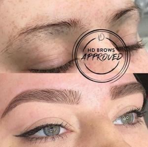 HD Brows Before & After Photo Overplucked Brows