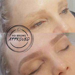 HD Brows Before & After Blonde Hair