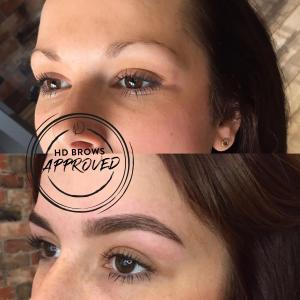 Before and after of HD Brows