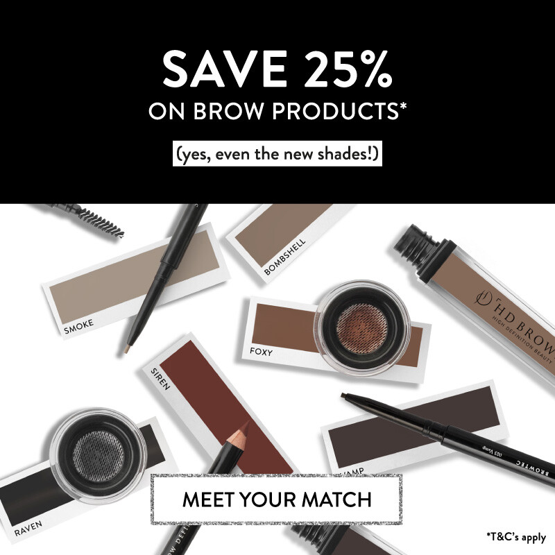 25% off brow products*