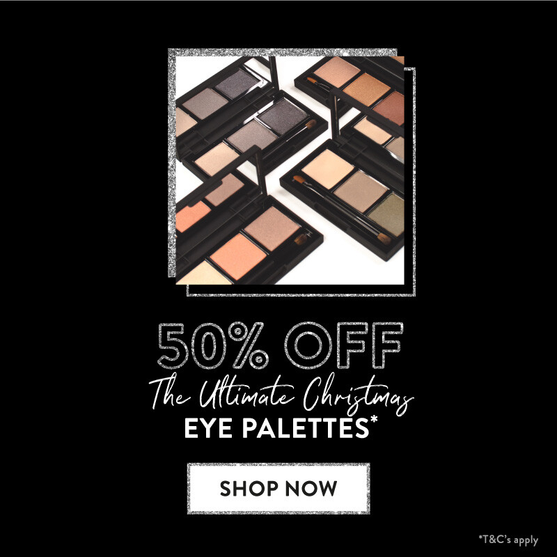 50% off the ultimate Christmas eye palettes