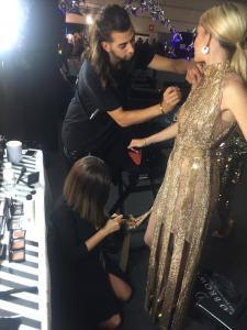 Getting the performers ready backstage at the MTV EMAs 2018