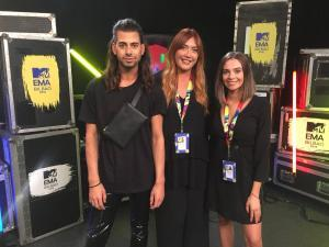 Team HD backstage at the MTV EMAs 2018