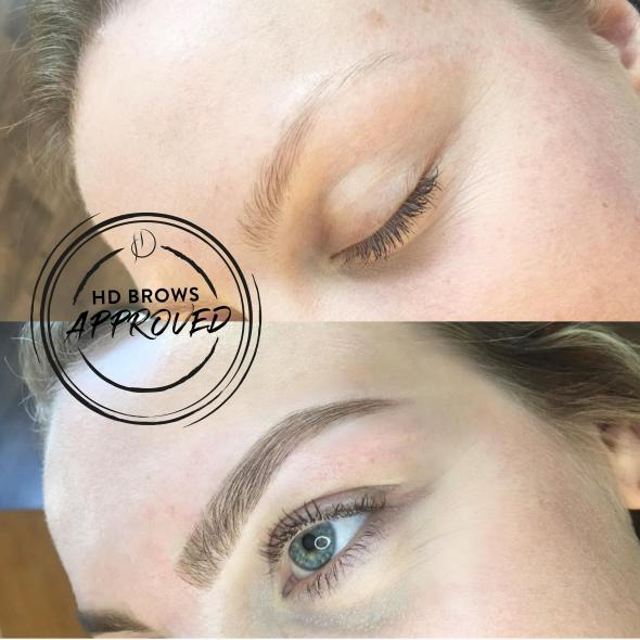 Before & After Microblading example