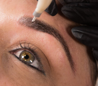 Eyebrow microblading treatment