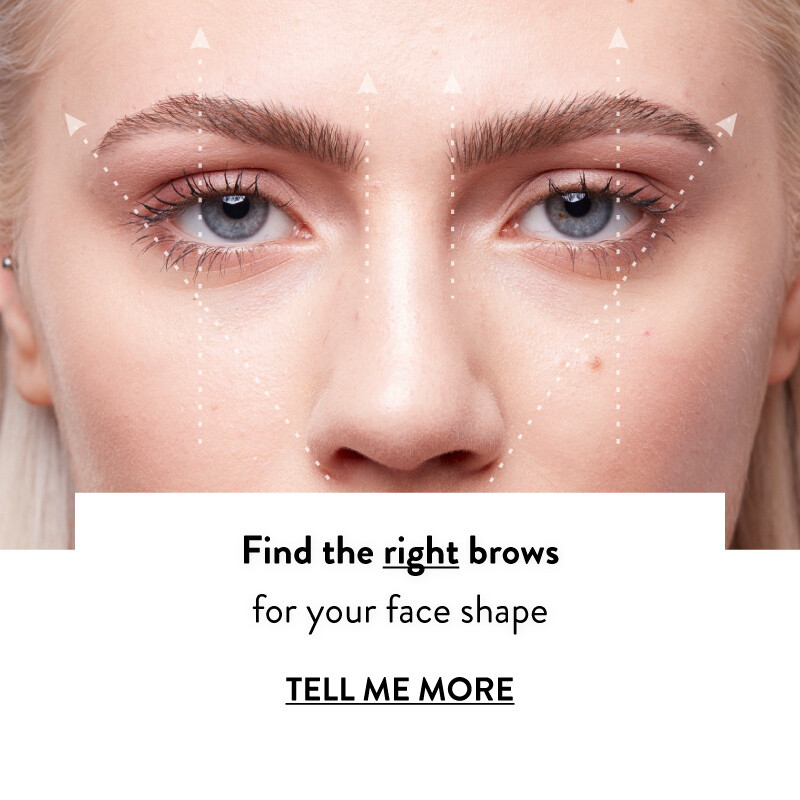 Find the right brows for your face shape