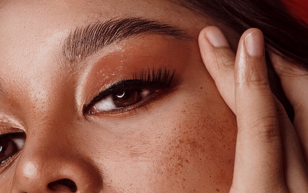 Close up shot of model's eye and eyebrow