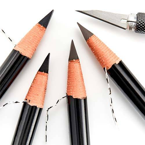 Pro Pencil in all 4 shades with the Pro Shaper