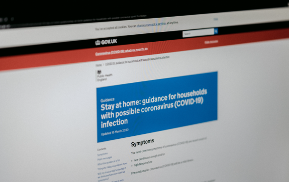 UK Gov website with advice on coronavirus