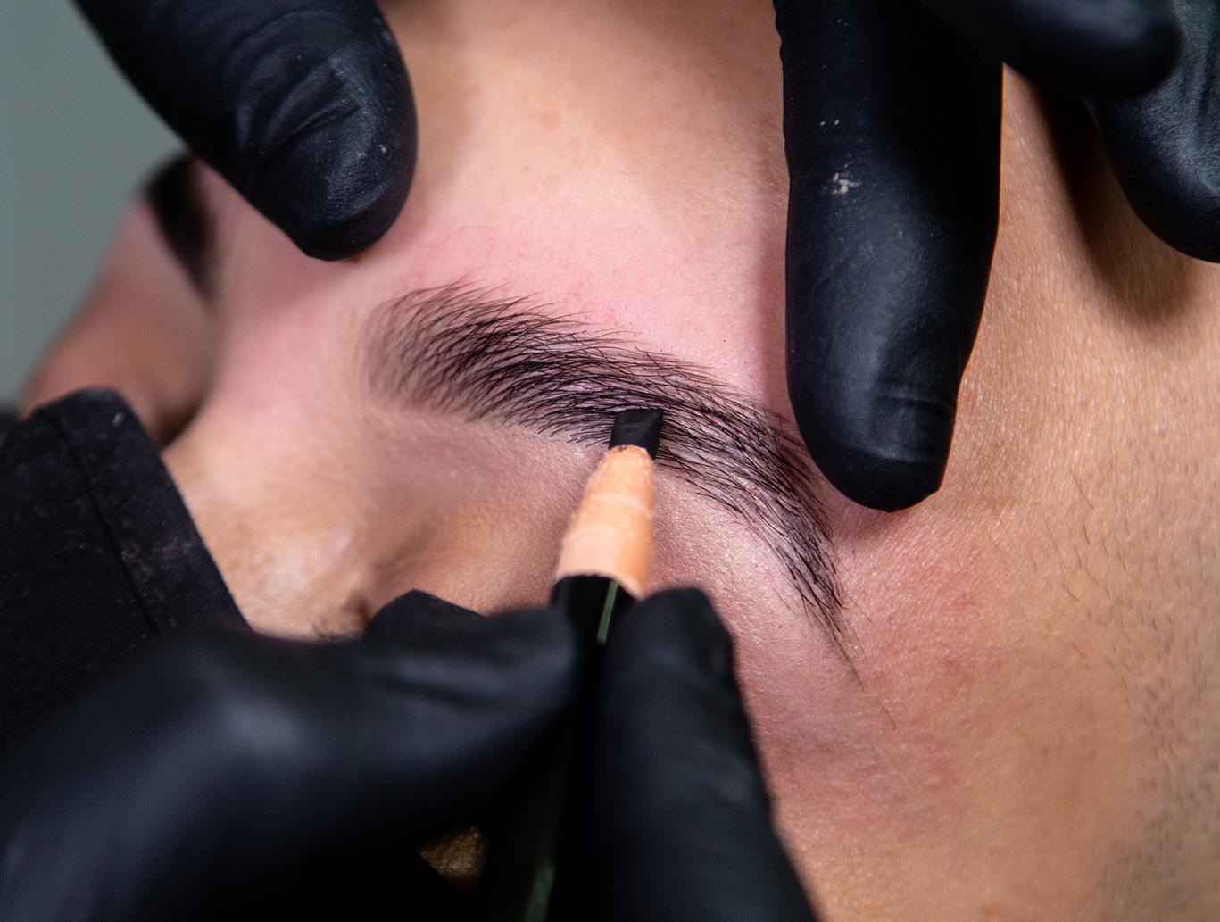 Fill in eyebrows using HD Brow pencil