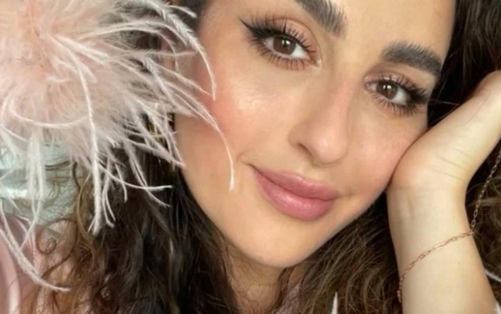 Close up selfie of Nikki Makeup wearing Brow Glue